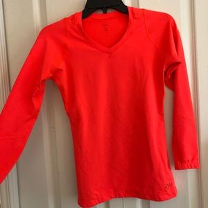 RYU salmon sports long sleeve shirt dry fit size S